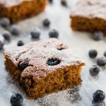Blueberry-Applesauce Cake Bars