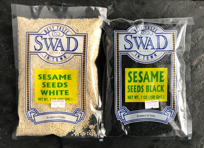 Black and White Sesame Seeds from Indian Grocery for $2.99