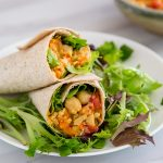 Easy Chickpea Salad Sandwich Filling in a Wrap