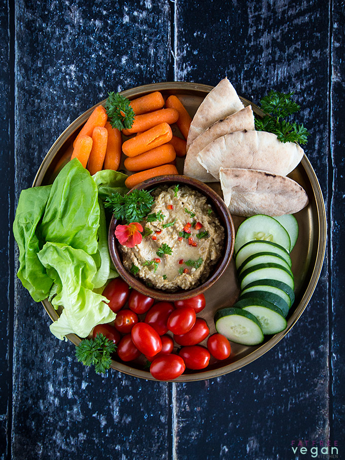 Supercharged Baba Ganoush (Eggplant Dip with Chickpeas)