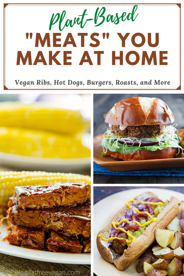 Make your own plant-based burgers, ribs, hot dogs, roasts, and more using pantry ingredients such as gluten, tofu, and legumes. #vegan