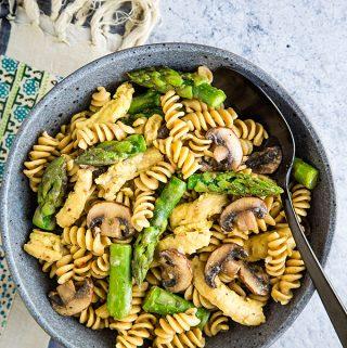 Vegan Asparagus Mushroom Pasta