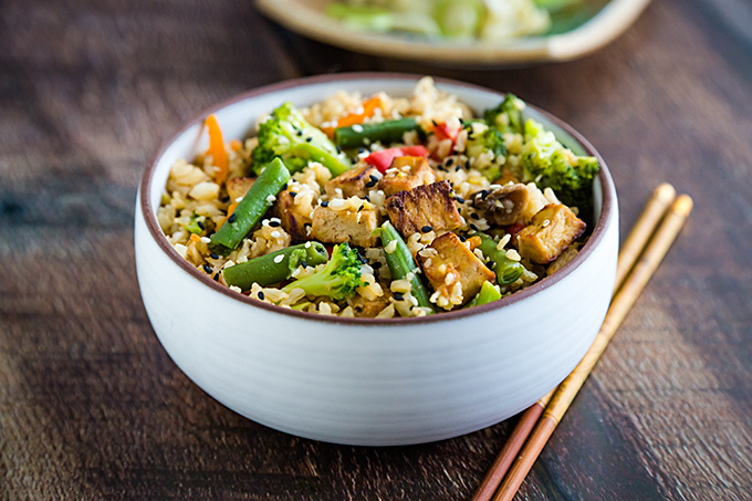 Ridiculously Easy Vegetable Fried Rice