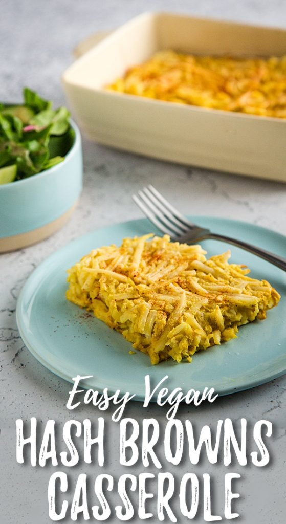 Vegan Scalloped Hash Browns Casserole: The creaminess of scalloped potatoes with the ease of frozen hash browns! You can't go wrong with this low-fat, vegan side dish. #wfpb #vegan #potatoes